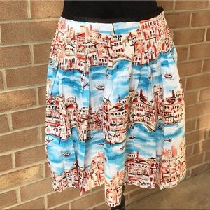 Kenar skirt with river or canal scene